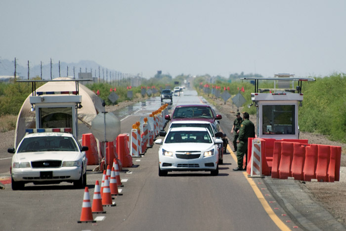 INS checkpoint on Interstate 8 in Arizona