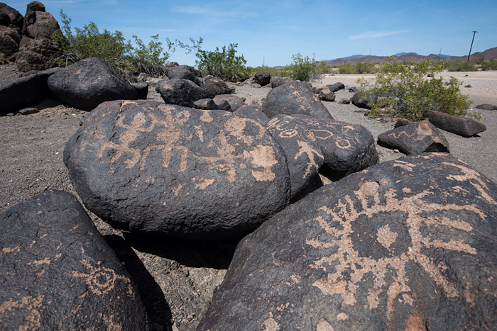 Painted Rock Petroglyph Site near Gila Bend, Arizona