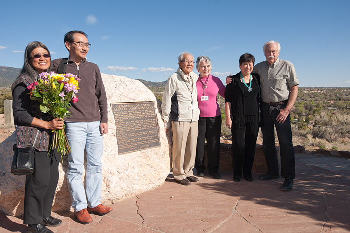 Group shot at the marker