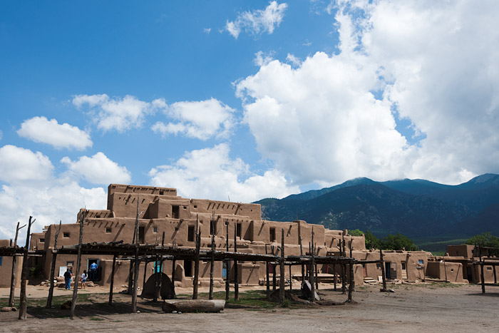 Multi-level adobe homes at Taos Pueblo