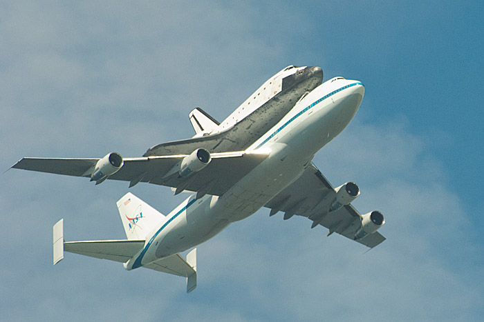 Flyover Space Shuttle Endeavour over Tucson, Arizona on 9 ... |Space Shuttle Flyover