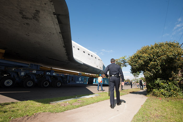 Under Endeavour's wing