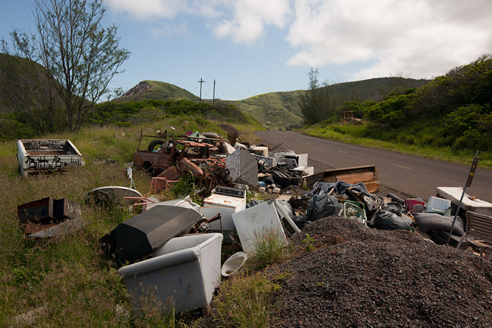 Improvised dump site near Kahakuloa Head