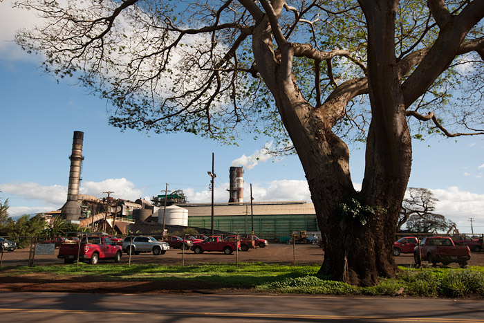 Sugar mill at the A & B Sugar Plantation in Pu'unene, Maui
