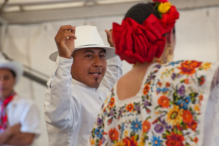 Dancers of the Ballet Folklorico Netzahualcoyotl perform Mexican folk dances.