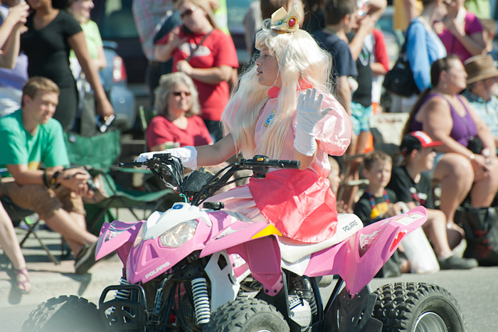 Girl on atv