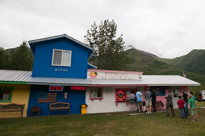 Ice cream shop near Eklutna Lake