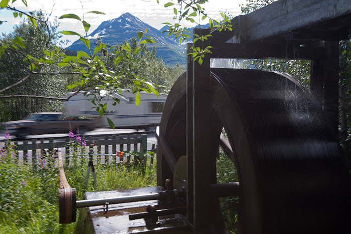 Water wheel in Moose Pass, Alaska