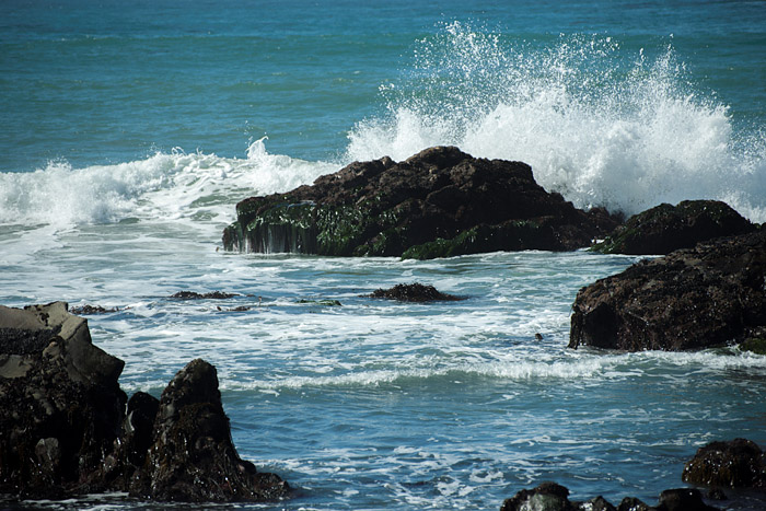 Surf at Moonstone Beach in Cambria