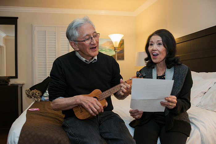 My parents, Roland and June Minami, singing Red River Valley, Morro Bay, California, Saturday, February 28, 2015.