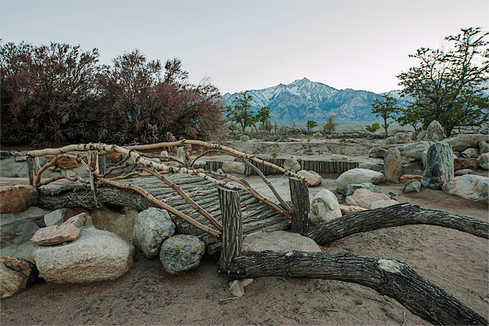Merrit Park reconstruction at Manzanar, Manzanar National Historic Site