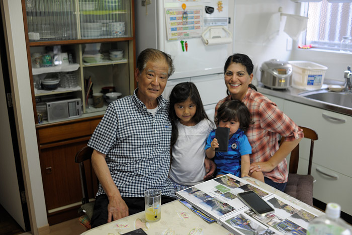 With Uncle Toshiji