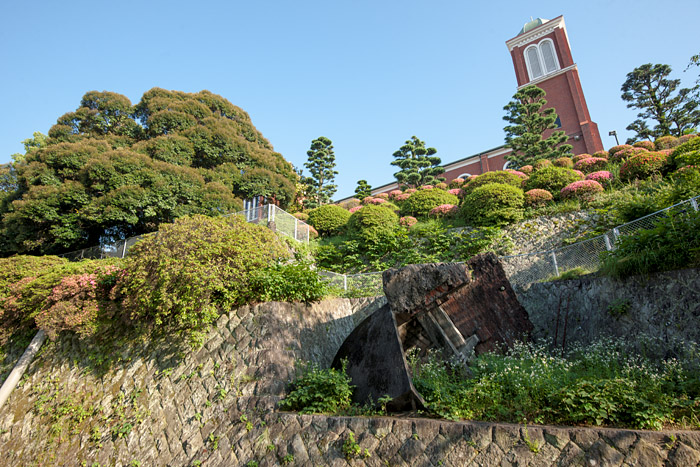 Fallen bell tower of Urakami Cathedral, Nagasaki