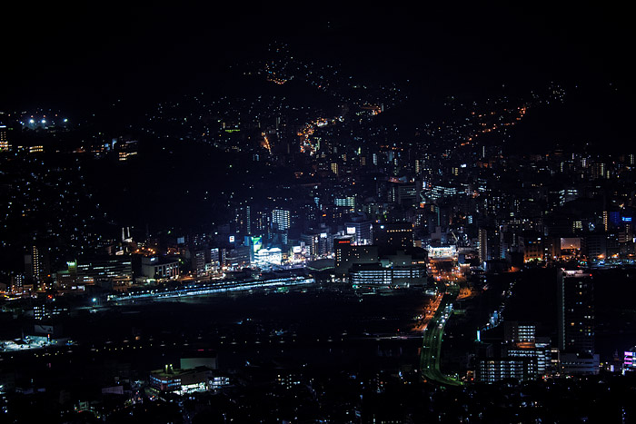 Night view of Nagasaki from Mt. Inasa