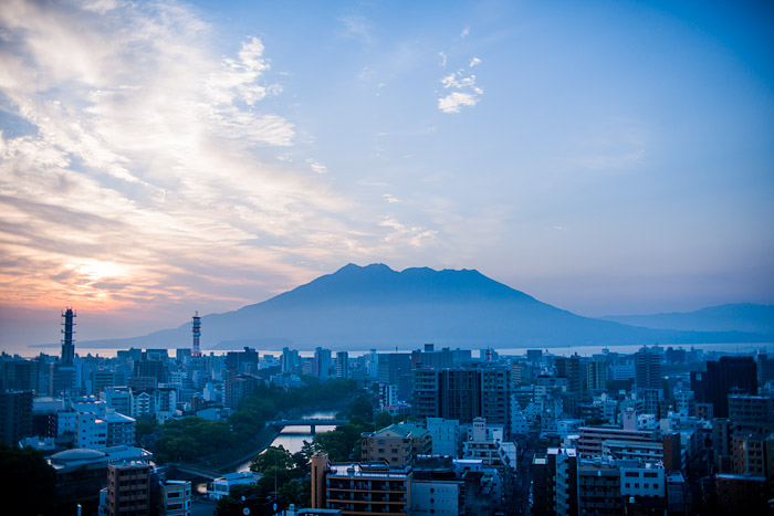 Sakurajima at sunrise