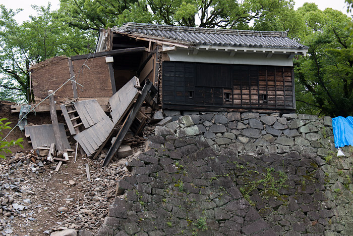 Damaged structure at Kumamoto Castle