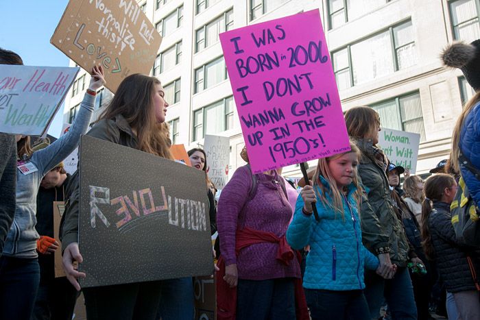 Born in 2006. Women's March, Los Angeles