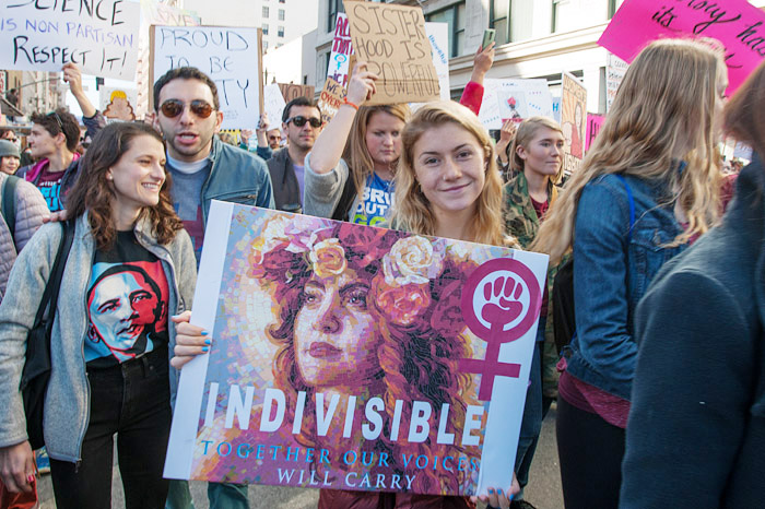 Indivisible. Women's March, Los Angeles