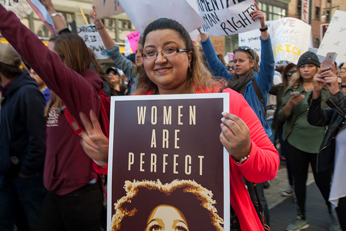 Women are perfect. Women's March, Los Angeles