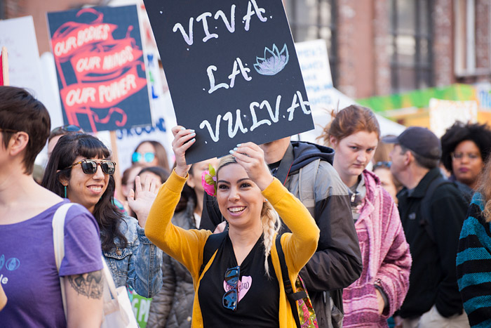 Viva la vulva. Women's March, Los Angeles