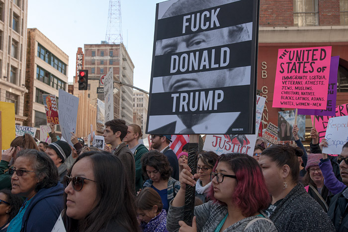 Fuck Donald Trump. Women's March, Los Angeles
