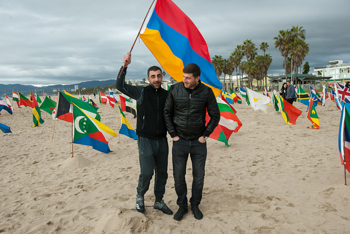 Albania — Flags of the world at Venice Beach