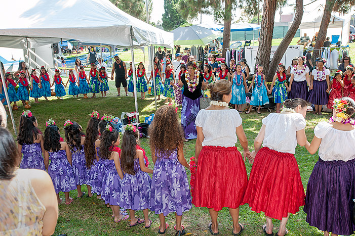 Kanani Kalama Hālau performs Sunday, July 15, 2017, at the Alondra Park Ho'olaule'a.