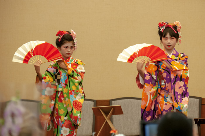 Japanese dance studio, Bando Hiromiya, showcases student performances Sunday, March 1, 2020, at their annual luncheon in Torrance, California.
