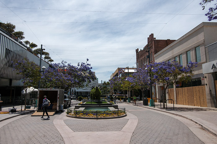 3rd Street Promenade in Santa Monica is closed Monday, June 1, 2020, following unrest in the wake of the Minneapolis Police killing of George Floyd..