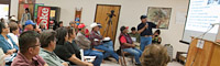 Navajo water rights meeting, Teesto, Arizona