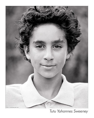 Child actor headshot shot with 35mm black and white film